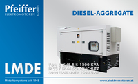 Diesel-Aggregat LMDE mit Schallschutz - Zum Vergrößern klicken