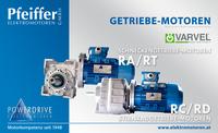 Getriebemotoren RA/RT und RC/RD - Zum Vergrößern klicken