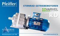 Stirnrad-Getriebemotor RD - Zum Vergrößern klicken