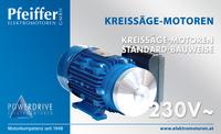 Kreissägemotor 230 V˜, Standardbauweise - Zum Vergrößern klicken