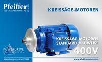 Kreissägemotor 400 V, Standardbauweise - Zum Vergrößern klicken