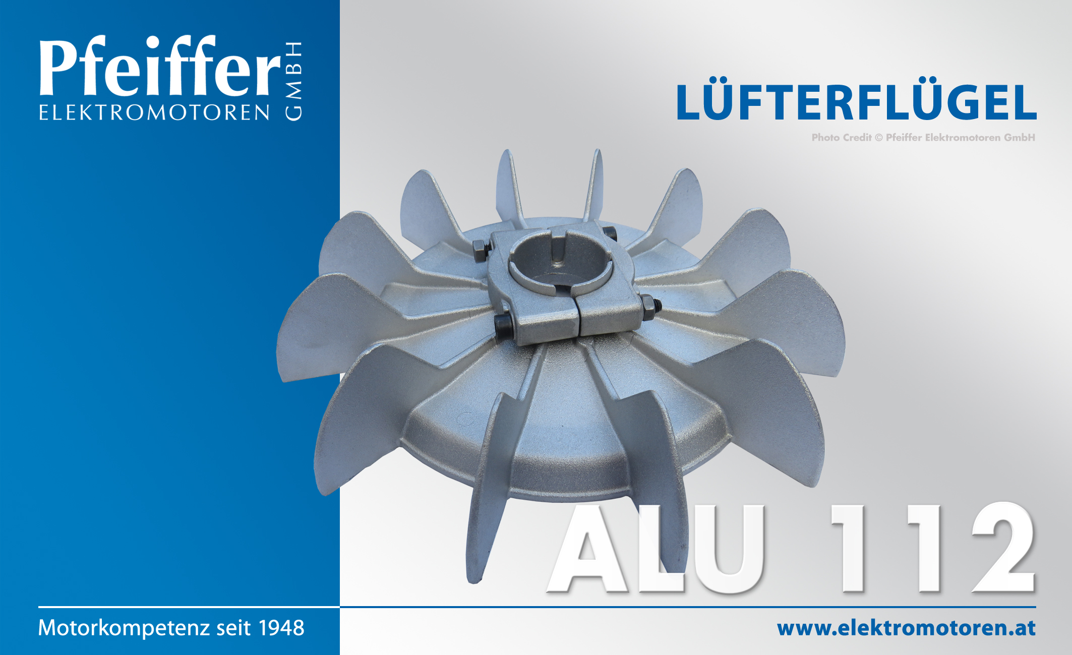 Lüfterflügel Lüfterrad Lüfter für Elektromotor Drehstrommotor Baugröße 132