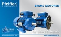 Powerdrive Brems-Motoren mit AC- oder DC-Bremse - Zum Vergrößern klicken
