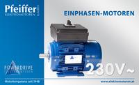 Einphasenmotor 230 V˜ mit Schalter - Zum Vergrößern klicken