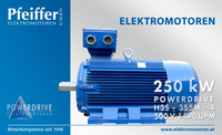 Pfeiffer Powerdrive Elektromotoren 250kW IE3 B3 500V