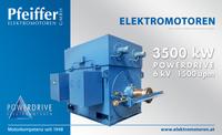 Powerdrive DS-Asynchronmotor für Ventilatorantrieb, 3500 kW, 6 kV, 1500 Upm, IC 6111i - Zum Vergrößern klicken