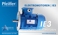 Powerdrive Elektromotor IE3, Premium Efficiency | B5 - Zum Vergrößern klicken