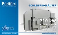 Powerdrive Asynchron-SRL-Motor für Walzwerkantrieb, Bgr. 450, 710 kW, 400-690 V, 750 Upm, IC 81W - Zum Vergrößern klicken