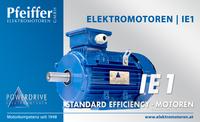Powerdrive Elektromotor IE1, Standard Efficiency | B3 - Zum Vergrößern klicken