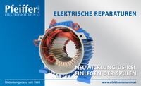 Alle elektrischen Reparaturen (hier abgebildet: Neuwicklung DS-KSL-Stator) - Zum Vergrößern klicken