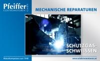 Alle mechanischen Reparaturen (hier abgebildet: Schutzgas-Schweißen) - Zum Vergrößern klicken