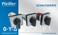 Schaltgeräte | Einbau: 0-Y-∆, 1-0-2, 0-1 - Zum Vergrößern klicken