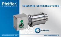 STROETER Edelstahl-Kegelstirnrad-Getriebe-Motoren KE - Zum Vergrößern klicken