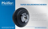 Taper-Keilriemenscheibe mit Buchse - Zum Vergrößern klicken