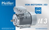 VEM-Motor IE3, Premium Efficiency - Zum Vergrößern klicken